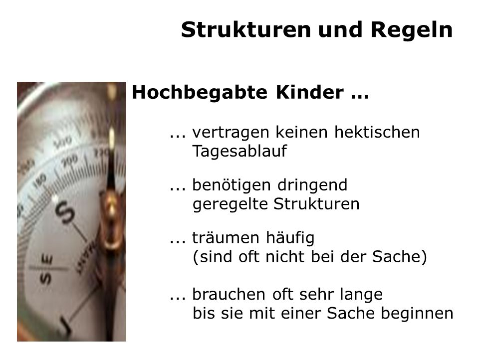 Strukturen und Regeln Hochbegabte Kinder …