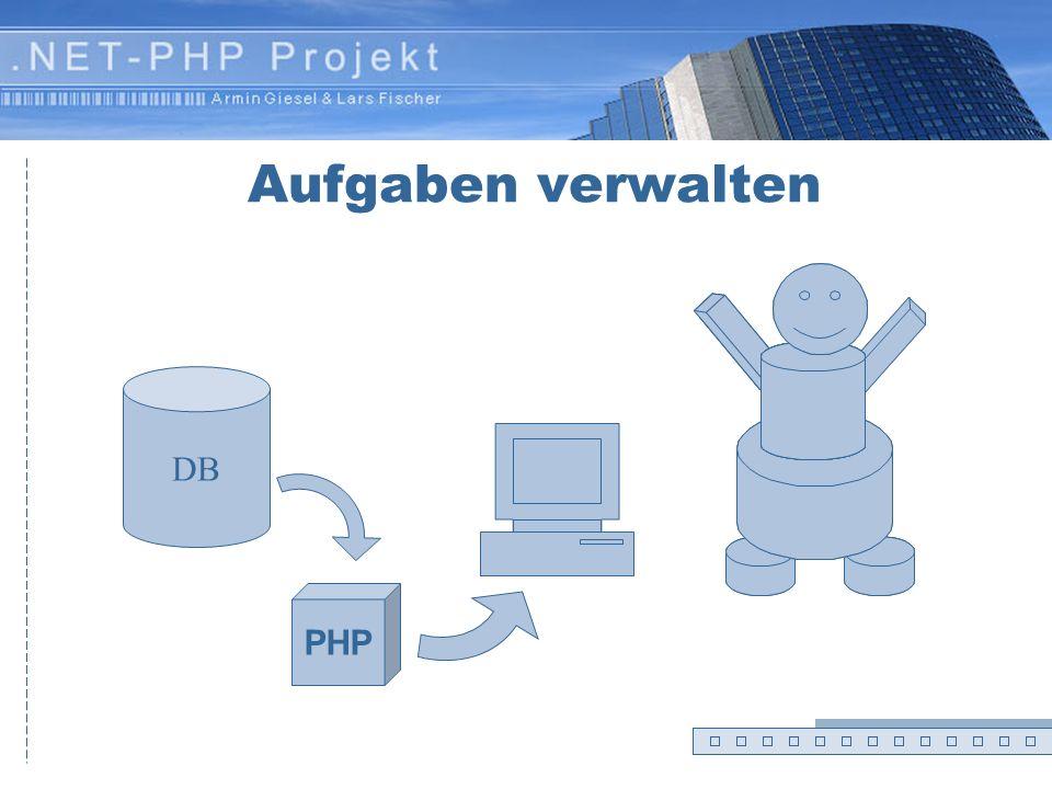 Aufgaben verwalten DB PHP Zettel 7 – Folie 1