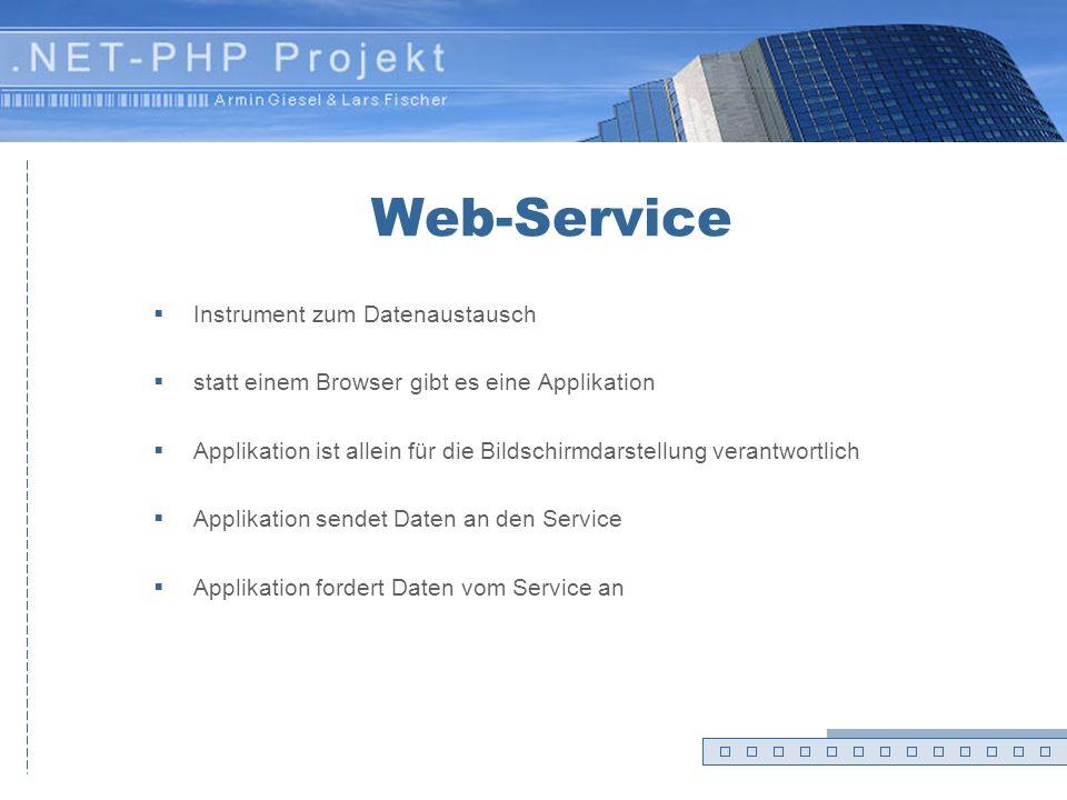 Web-Service Instrument zum Datenaustausch