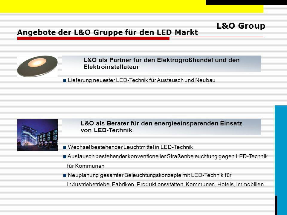 Angebote der L&O Gruppe für den LED Markt