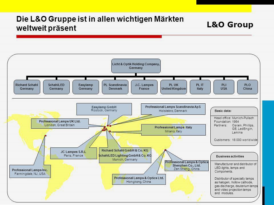 Die L&O Gruppe ist in allen wichtigen Märkten weltweit präsent