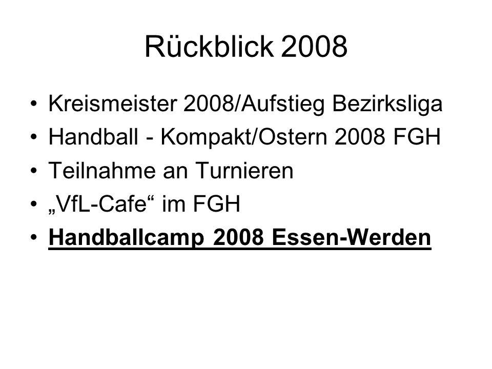 Rückblick 2008 Kreismeister 2008/Aufstieg Bezirksliga