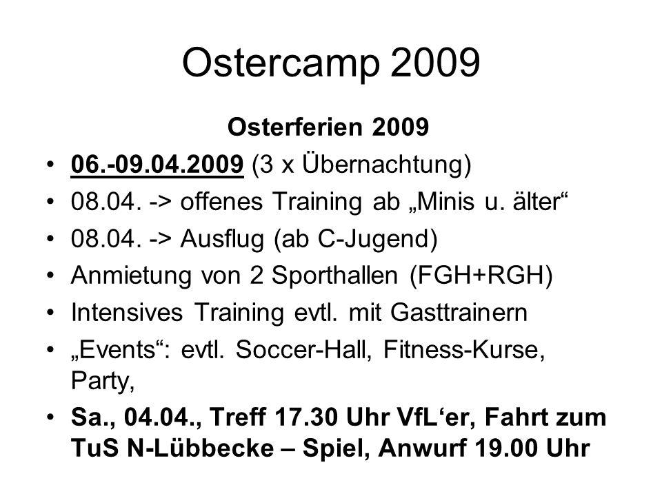 Ostercamp 2009 Osterferien 2009 06.-09.04.2009 (3 x Übernachtung)