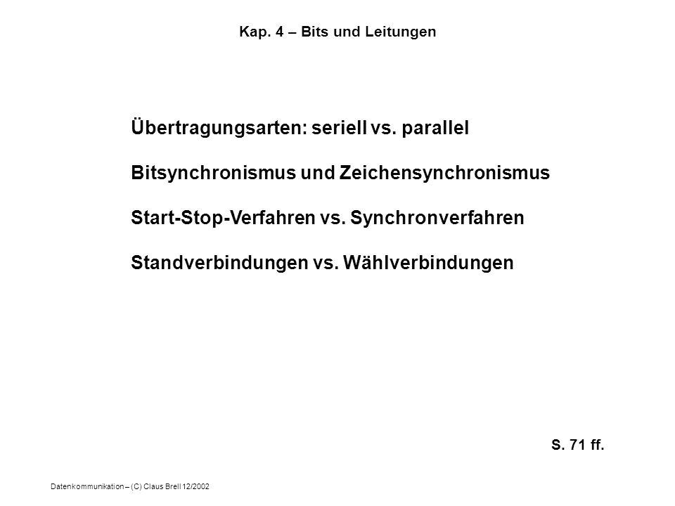 Kap. 4 – Bits und Leitungen