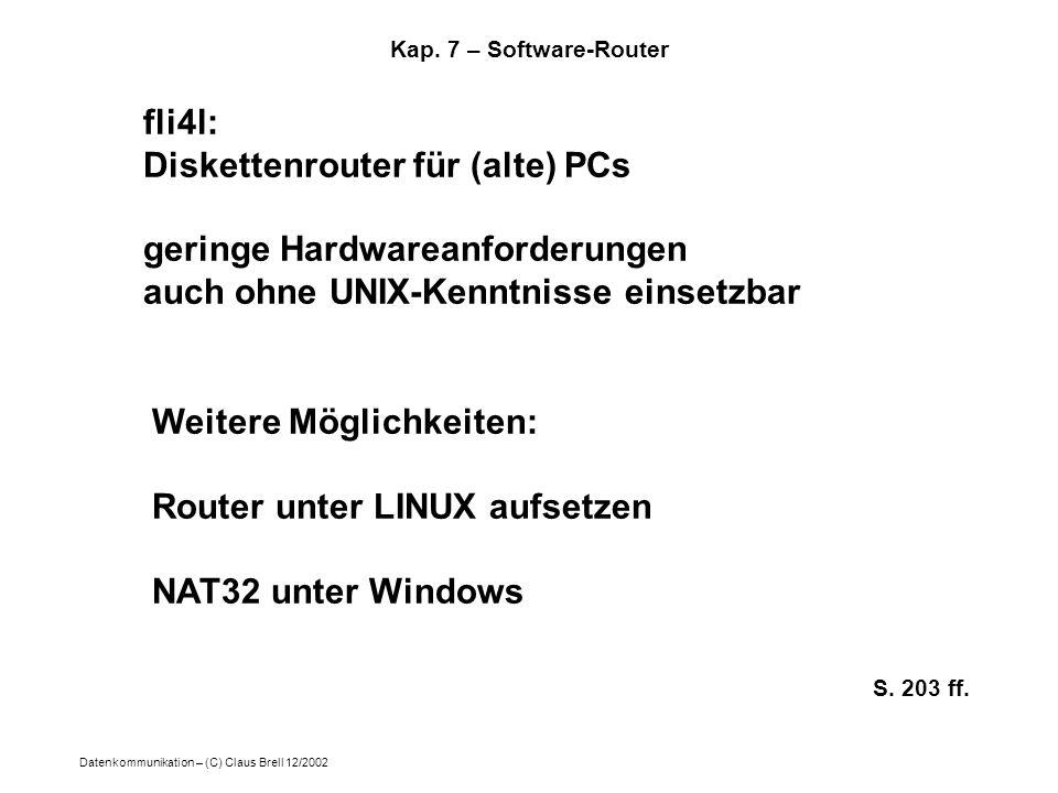Diskettenrouter für (alte) PCs geringe Hardwareanforderungen