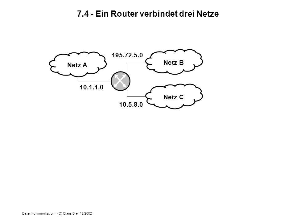 7.4 - Ein Router verbindet drei Netze