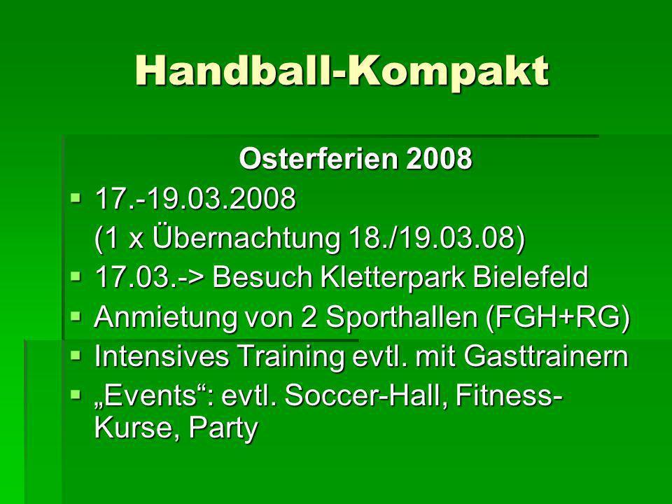 Handball-Kompakt Osterferien 2008 17.-19.03.2008