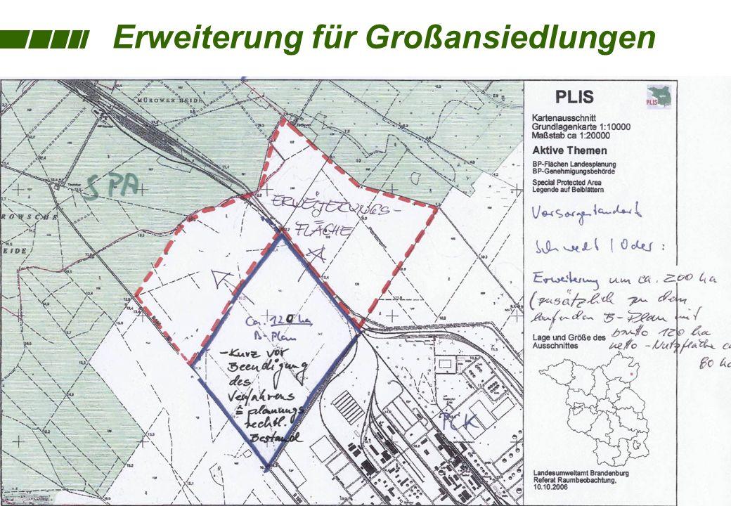 Erweiterung für Großansiedlungen