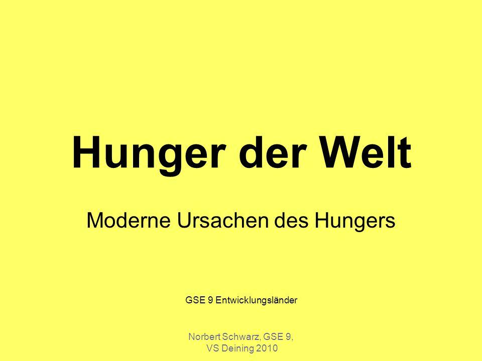 Moderne Ursachen des Hungers GSE 9 Entwicklungsländer
