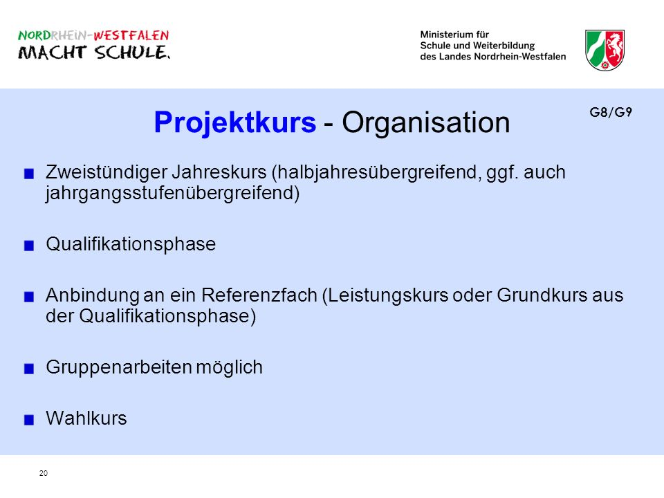 Projektkurs - Organisation