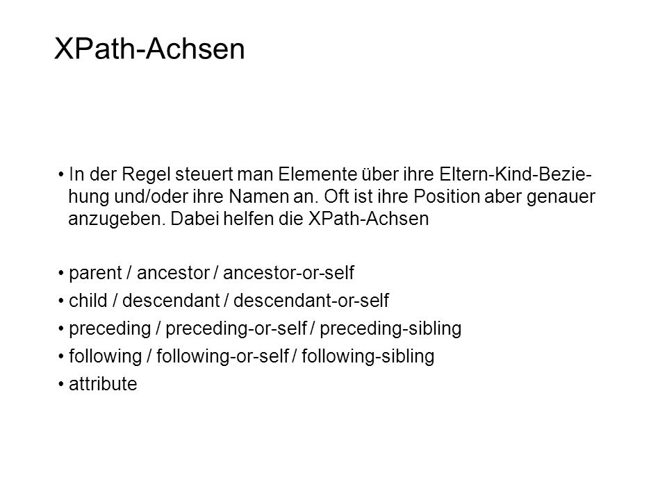 XPath-Achsen