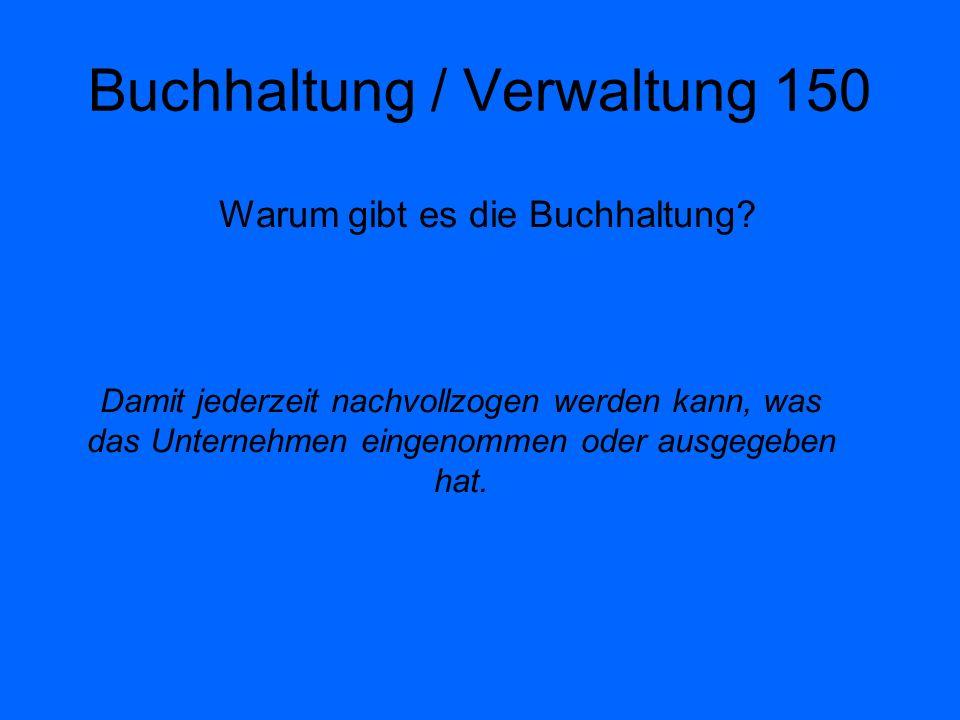 Buchhaltung / Verwaltung 150