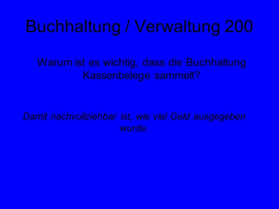 Buchhaltung / Verwaltung 200