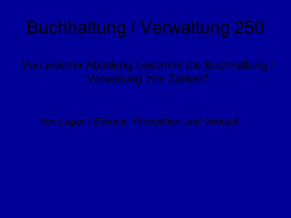 Buchhaltung / Verwaltung 250