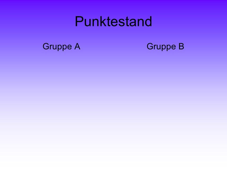 Punktestand Gruppe A Gruppe B