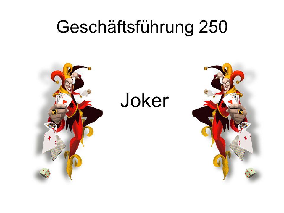 Geschäftsführung 250 Joker
