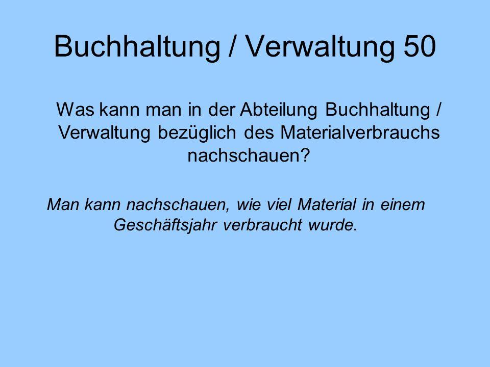 Buchhaltung / Verwaltung 50