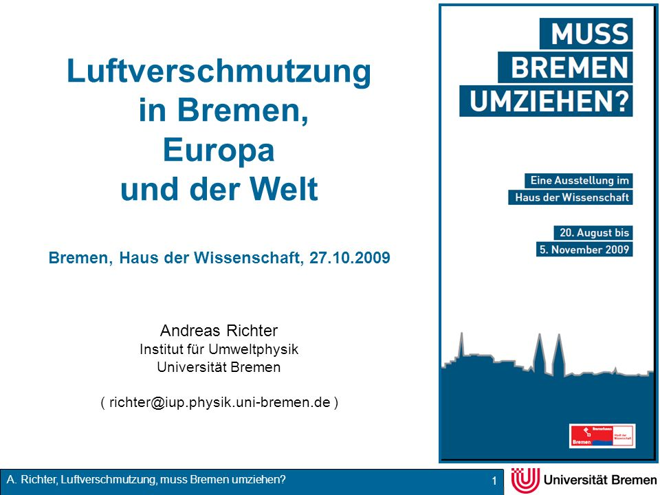 Luftverschmutzung in Bremen, Europa