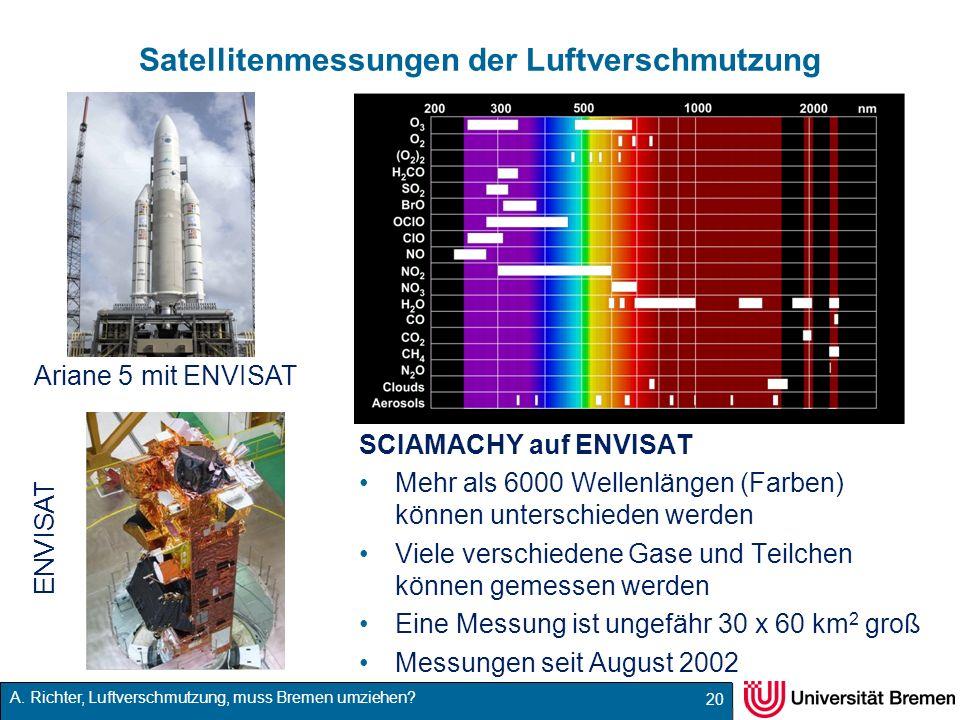 Satellitenmessungen der Luftverschmutzung