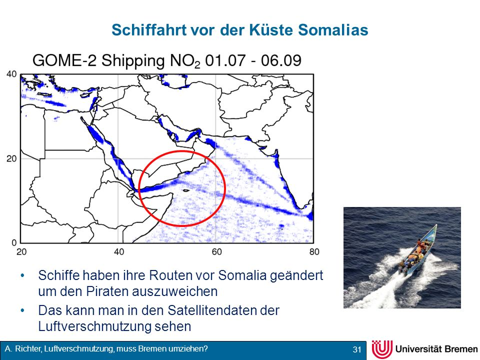 Schiffahrt vor der Küste Somalias
