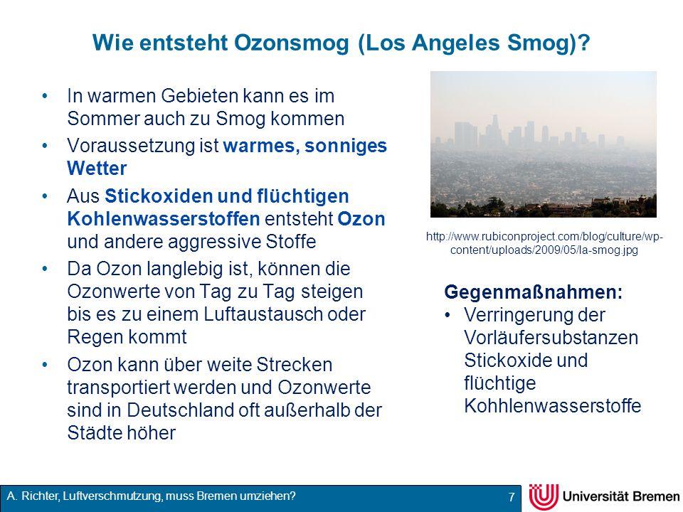 Wie entsteht Ozonsmog (Los Angeles Smog)