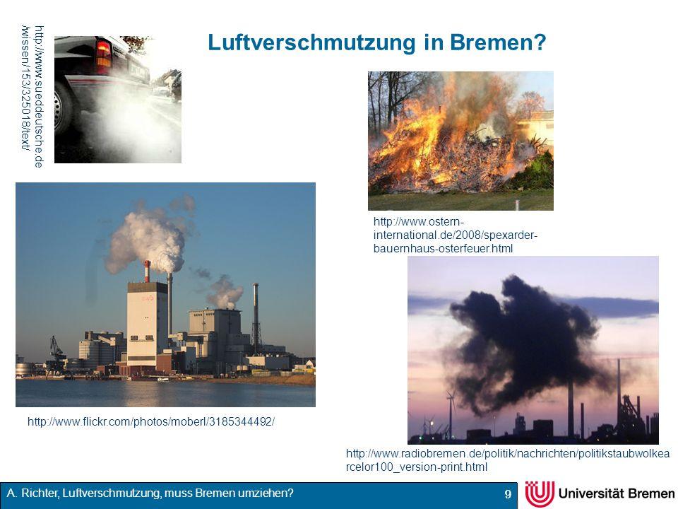 Luftverschmutzung in Bremen