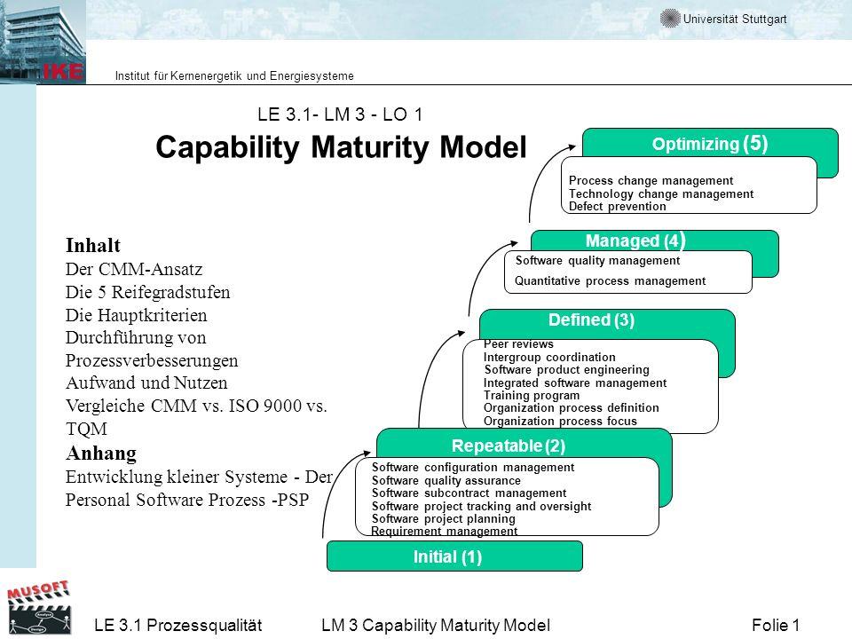 LE 3.1- LM 3 - LO 1 Capability Maturity Model
