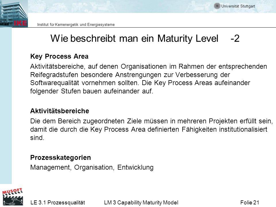 Wie beschreibt man ein Maturity Level -2