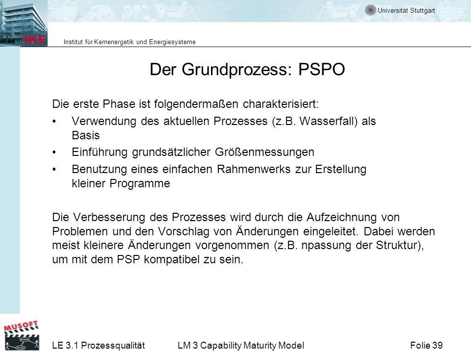 Der Grundprozess: PSPO