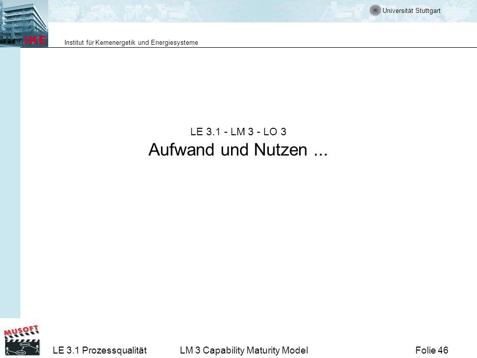 LE 3.1 - LM 3 - LO 3 Aufwand und Nutzen ...