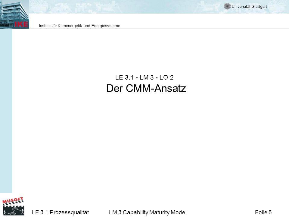 LE 3.1 - LM 3 - LO 2 Der CMM-Ansatz