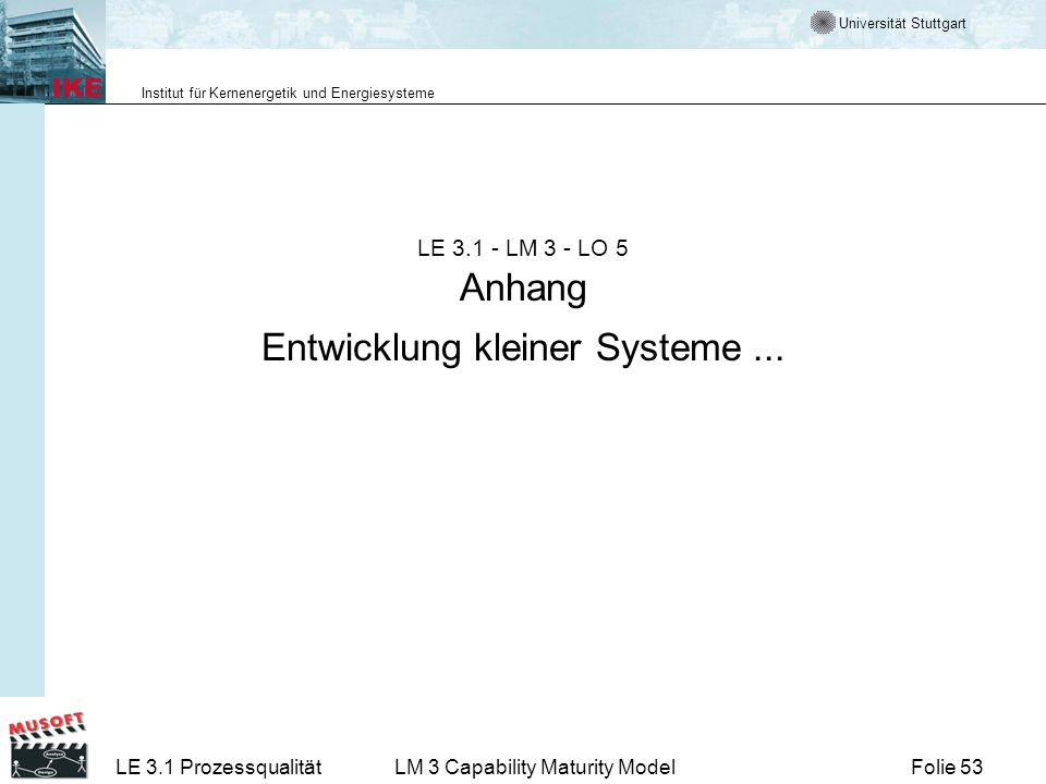 LE LM 3 - LO 5 Anhang Entwicklung kleiner Systeme ...