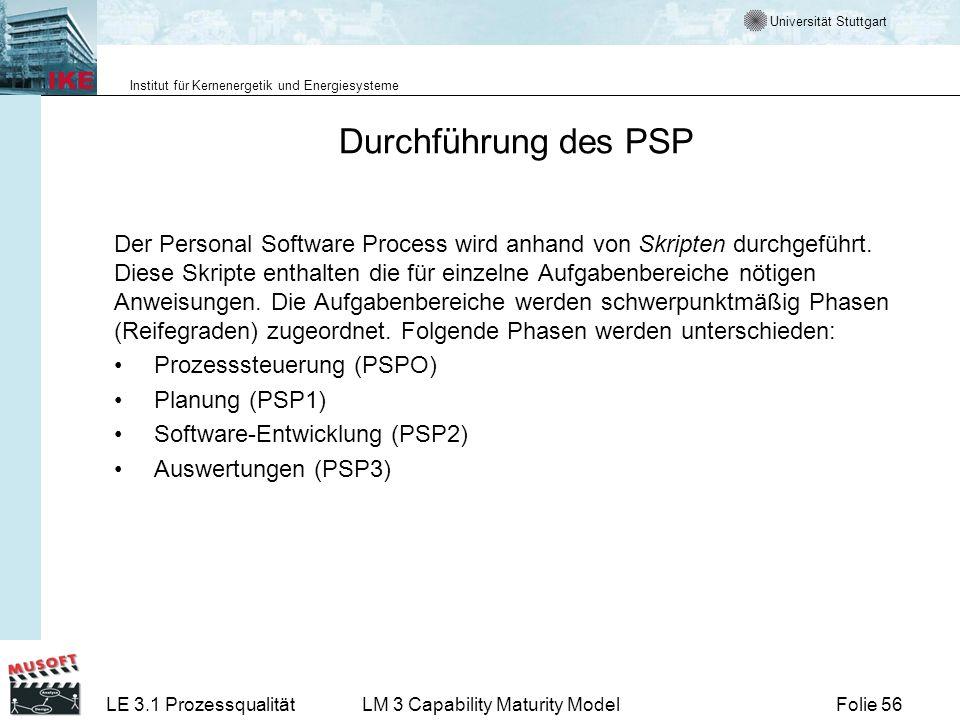 Durchführung des PSP