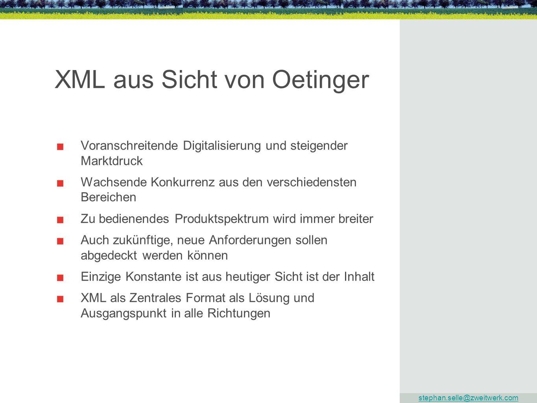 XML aus Sicht von Oetinger
