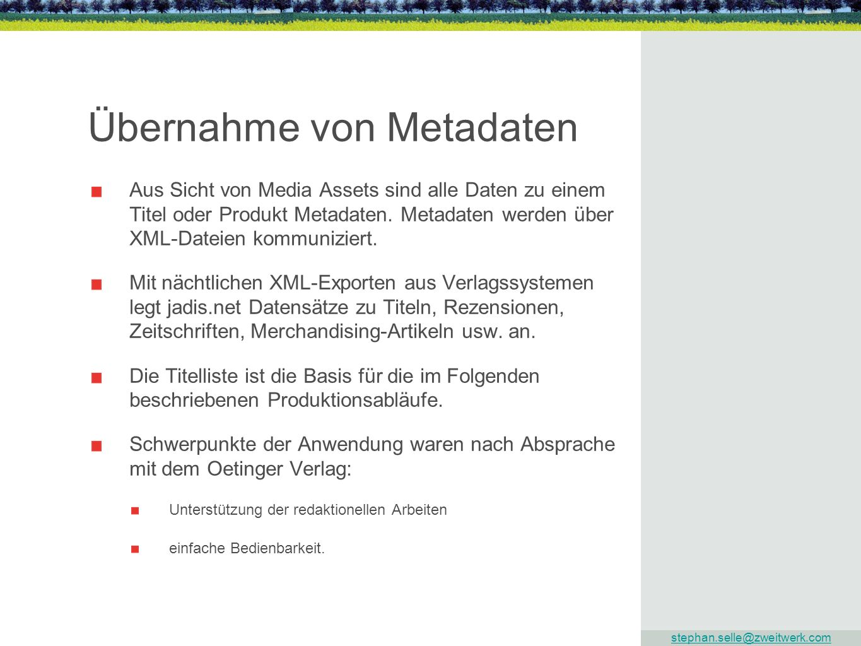 Übernahme von Metadaten