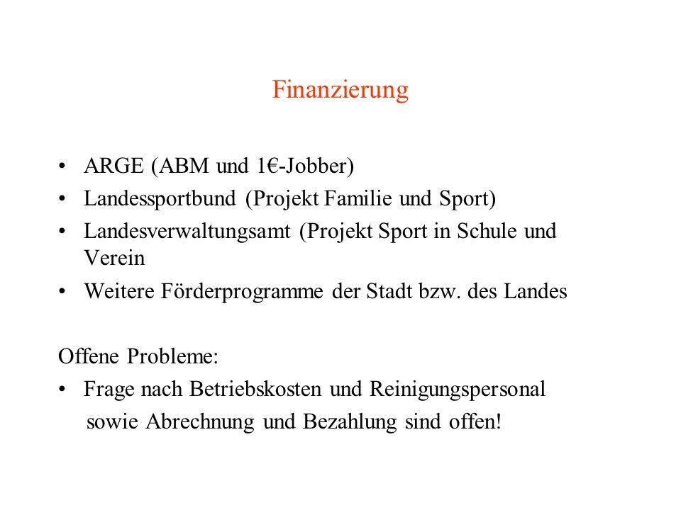 Finanzierung ARGE (ABM und 1€-Jobber)