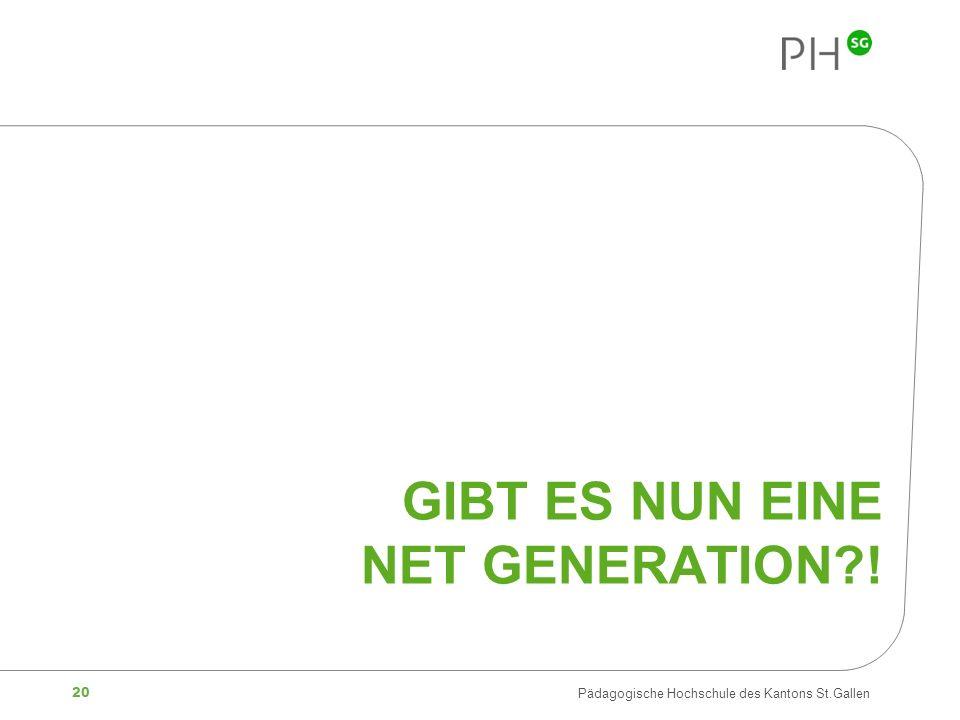 Gibt es nun eine Net Generation !