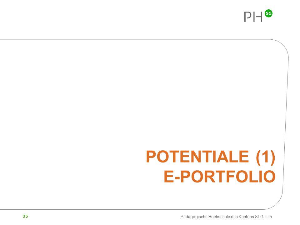 Potentiale (1) E-Portfolio