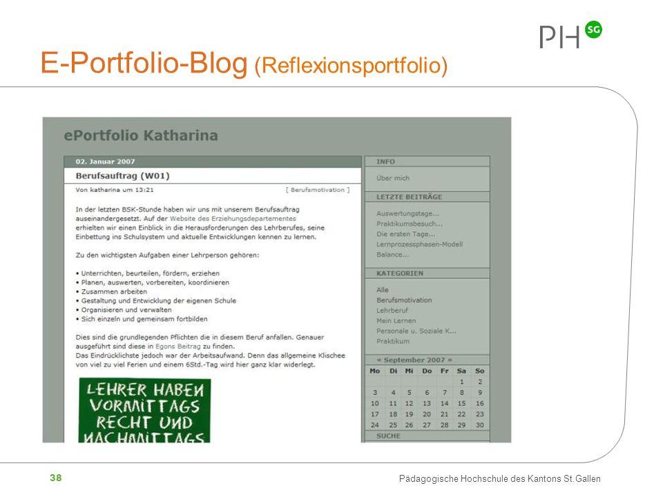 E-Portfolio-Blog (Reflexionsportfolio)