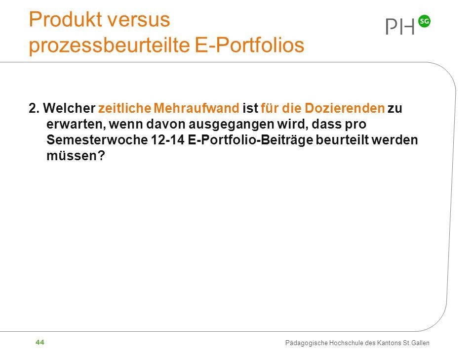 Produkt versus prozessbeurteilte E-Portfolios