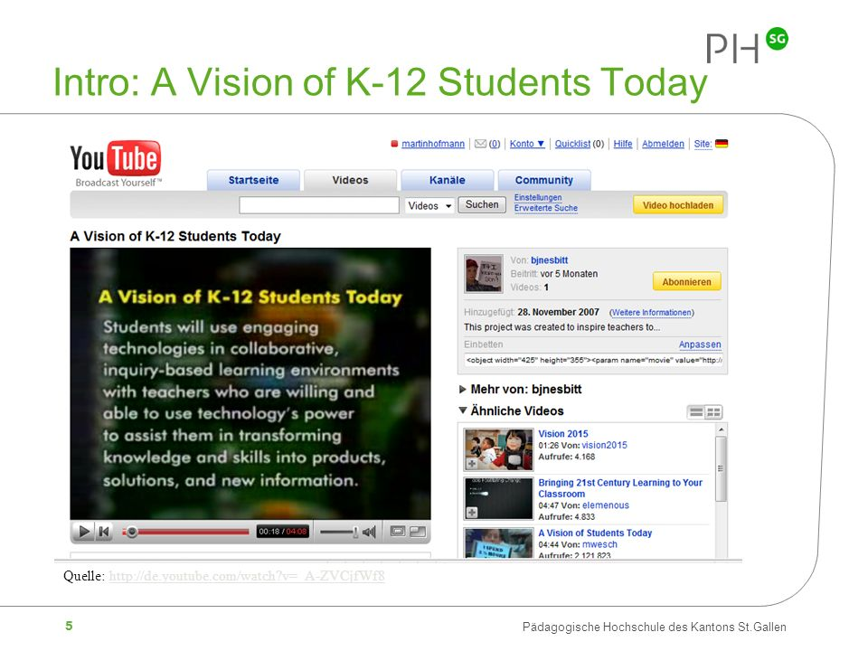 Intro: A Vision of K-12 Students Today