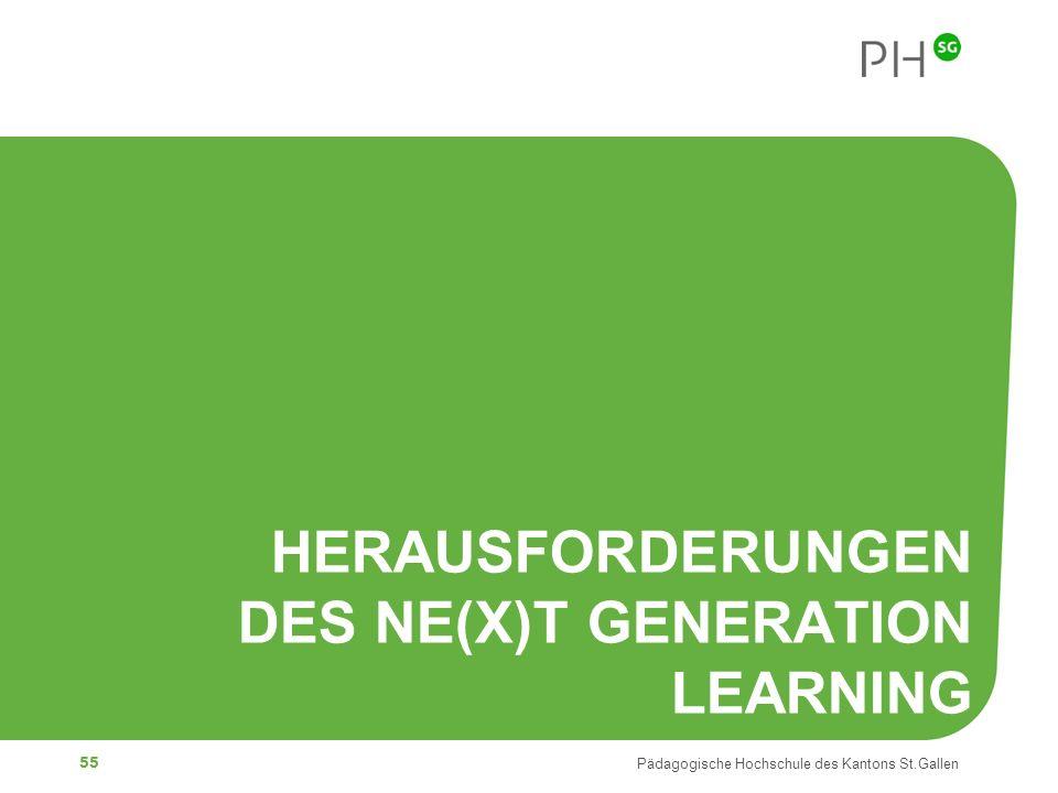 Herausforderungen des Ne(x)t Generation Learning