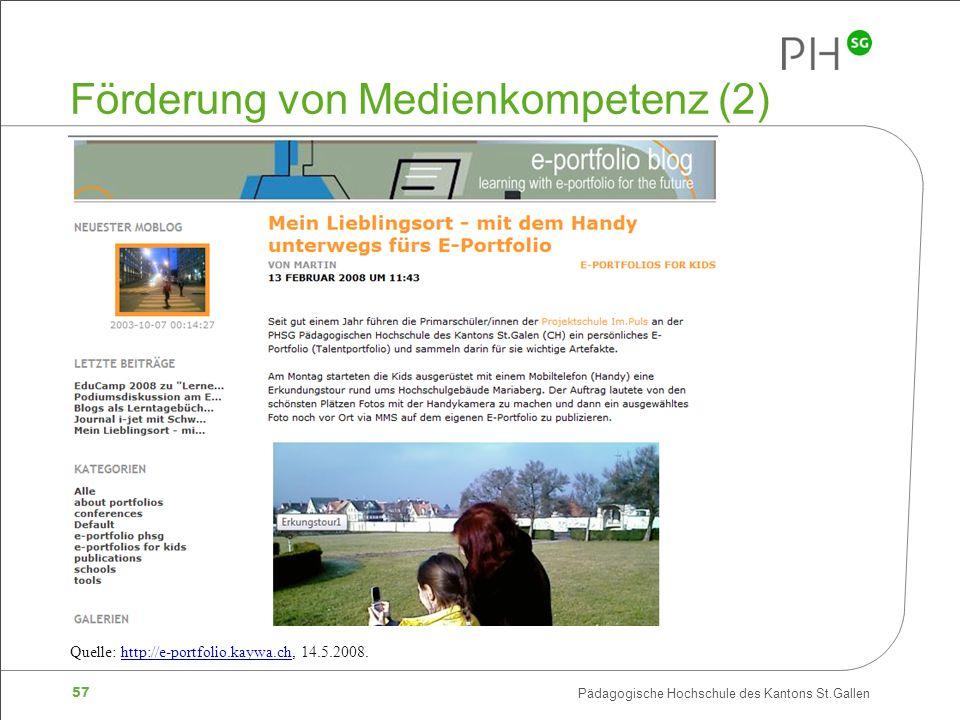 Förderung von Medienkompetenz (2)