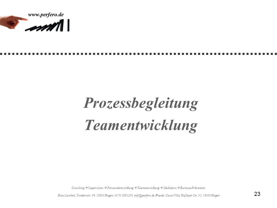 Prozessbegleitung Teamentwicklung