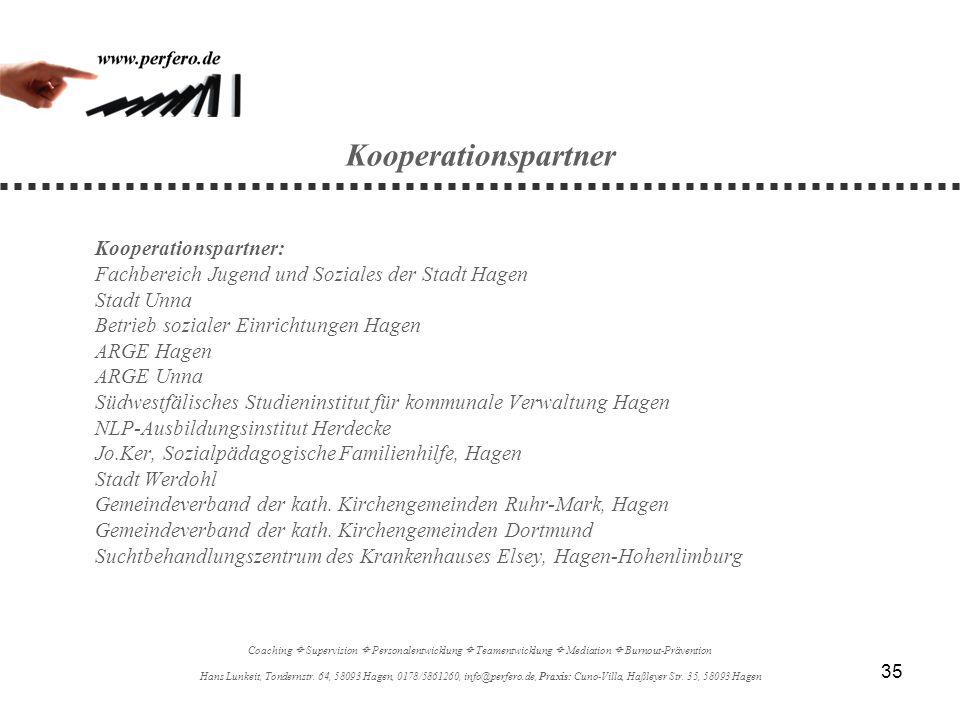 Kooperationspartner Fachbereich Jugend und Soziales der Stadt Hagen