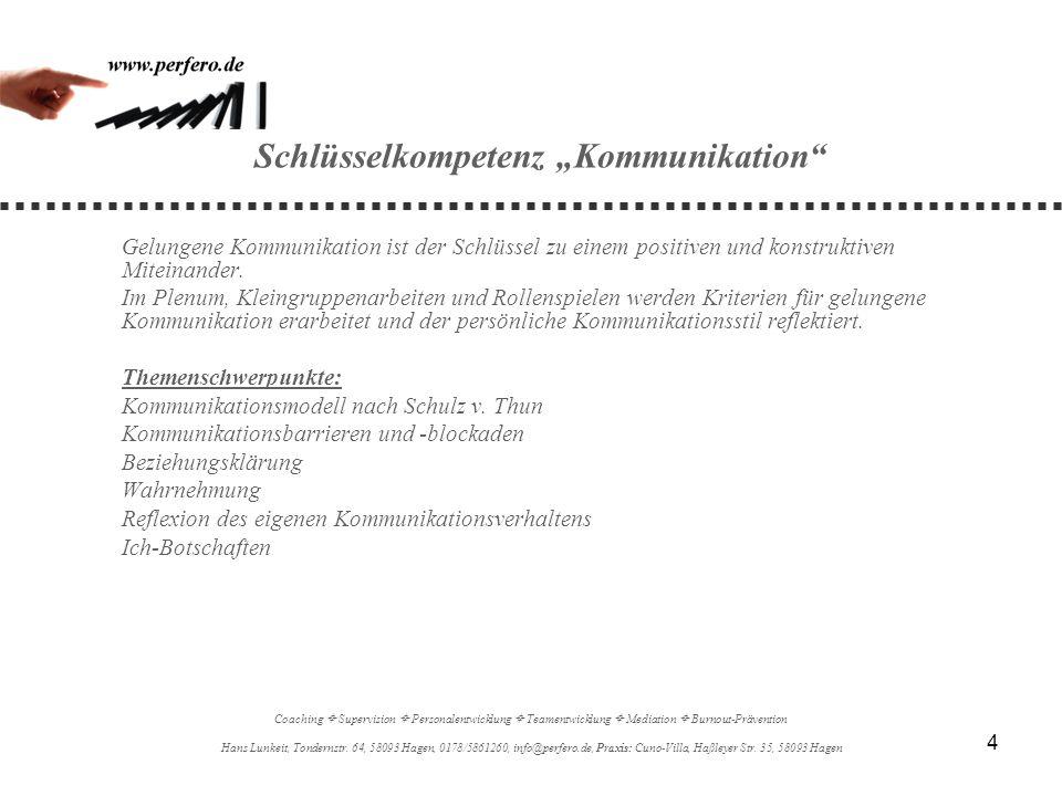 """Schlüsselkompetenz """"Kommunikation"""