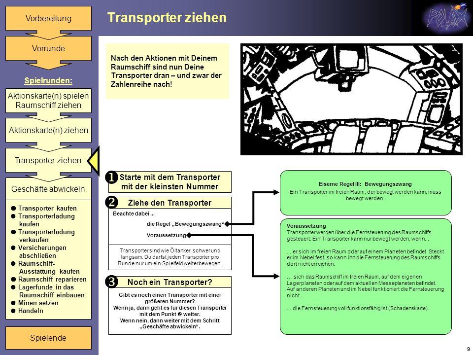    Transporter ziehen Starte mit dem Transporter