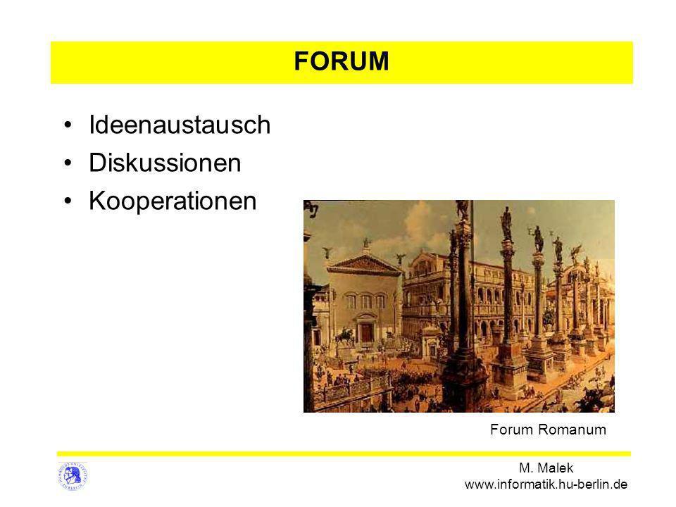 FORUM Ideenaustausch Diskussionen Kooperationen Forum Romanum