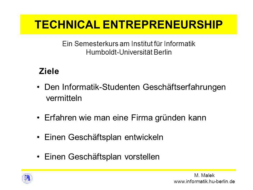 TECHNICAL ENTREPRENEURSHIP