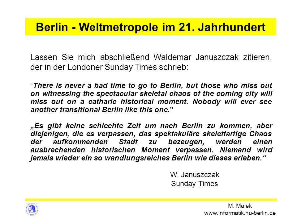Berlin - Weltmetropole im 21. Jahrhundert